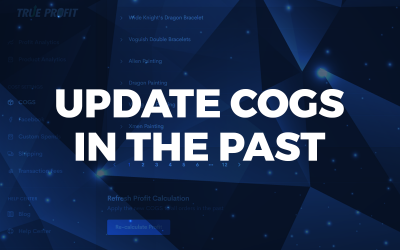 Available feature: Update COGS to orders in the past