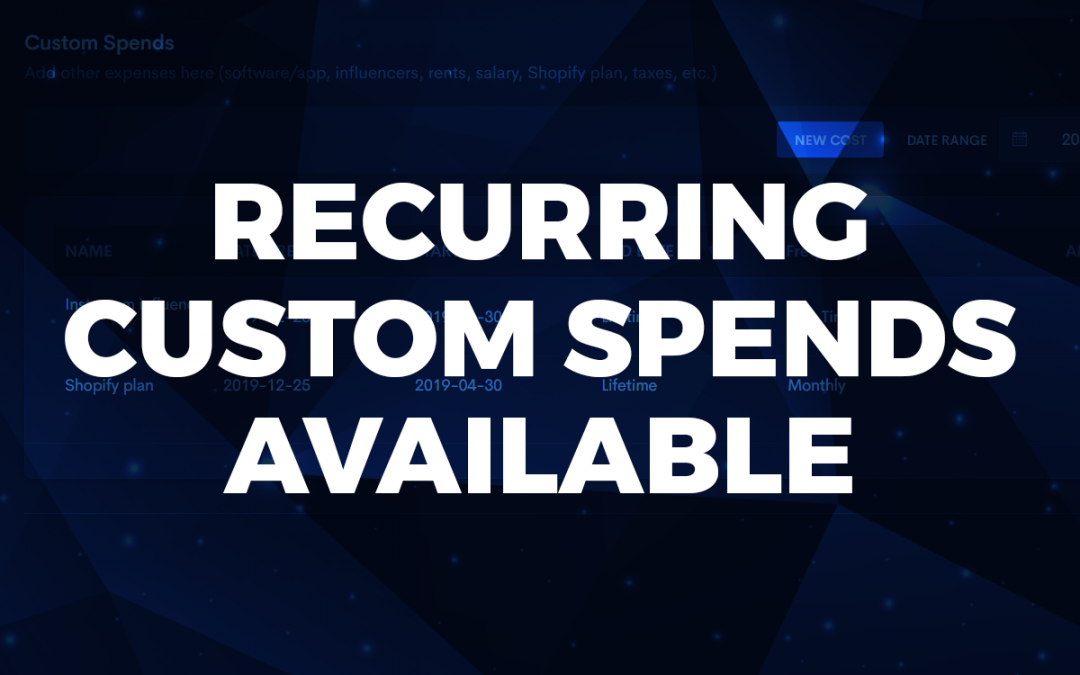 Custom spends can now be set to recurring