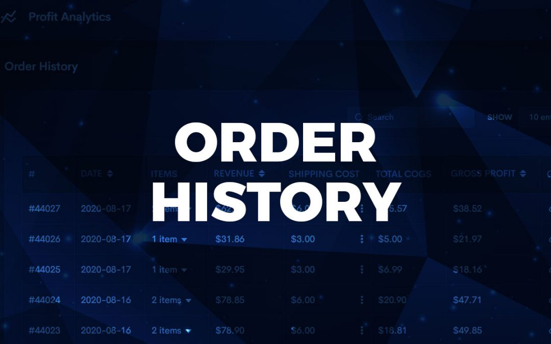 Order History: Manage single order costs
